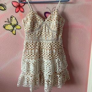 lulu white mini dress